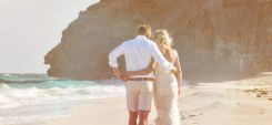 Beach and couple by Weddings by Malissa