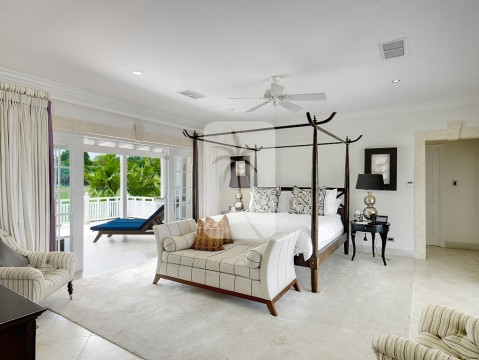 The Master suite with views out to golf course on the left
